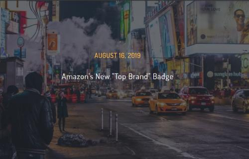 "Amazon New ""Top Brand"" Badge"